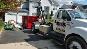 Dumpster Delivery at an Egg Harbor, NJ Home