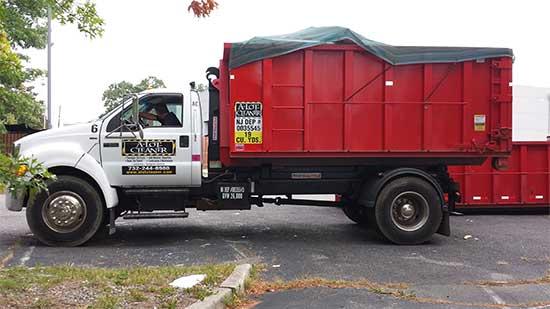 Red Dumpster in Brick, Nj